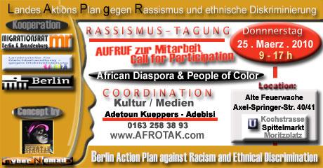 Landesaktionsplan gegen Rassismus Ethnische Diskriminierung LAPgR Migrationsrat Berlin Brandenburg Landesstelle für Gleichbehandlung gegen Diskriminierung